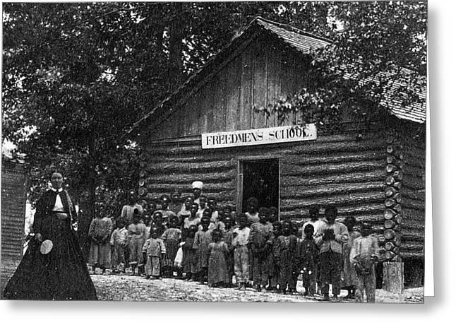 Freedmen School, C1867 Greeting Card by Granger
