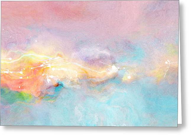 Best Sellers -  - Abstract Digital Paintings Greeting Cards - Freedom - Abstract Art Greeting Card by Jaison Cianelli