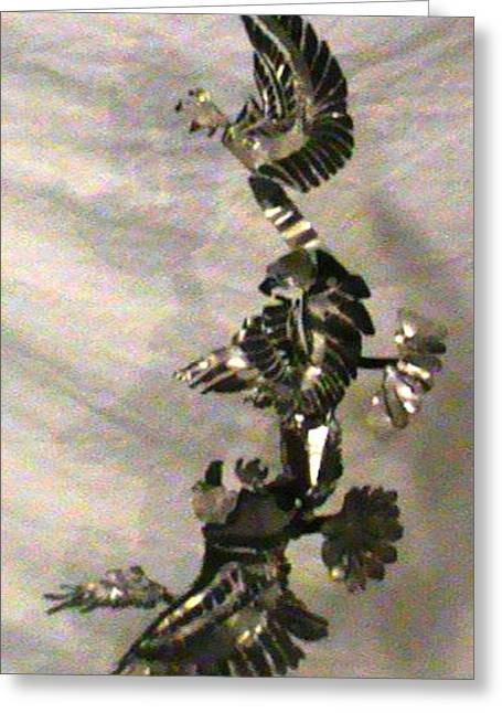 Eagle Sculptures Greeting Cards - Freedom and Independence  Greeting Card by Benneth Wilson