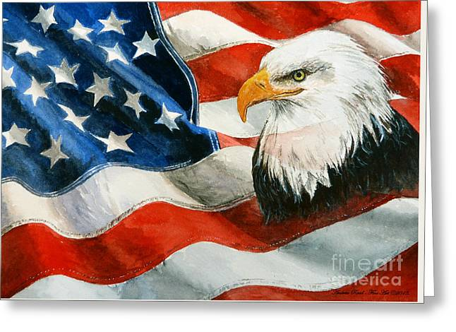 Patriotism Paintings Greeting Cards - Freedom Greeting Card by Andrew Read