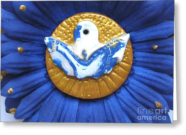 Spiritual Sculptures Greeting Cards - Freedom angel Greeting Card by Heidi Sieber