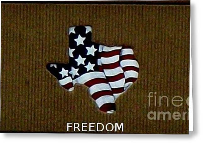 Patriotic Pyrography Greeting Cards - Freedom Greeting Card by Brian Corbel