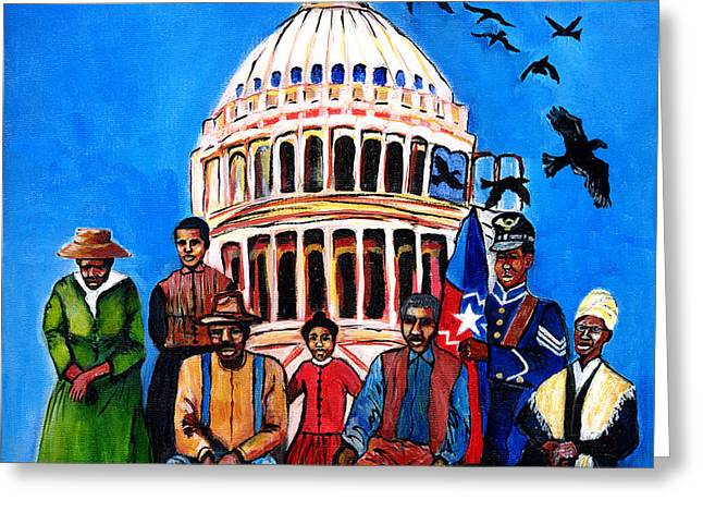 Freedom - Celebrating Juneteenth Greeting Card by Everett Spruill