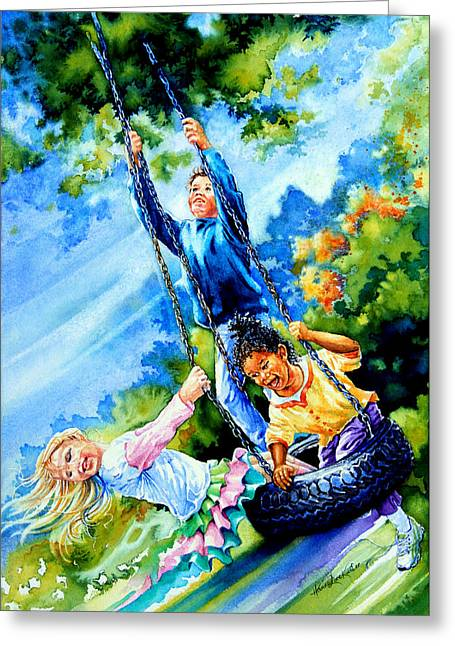 Kids Artist Greeting Cards - Freedom Chains Greeting Card by Hanne Lore Koehler