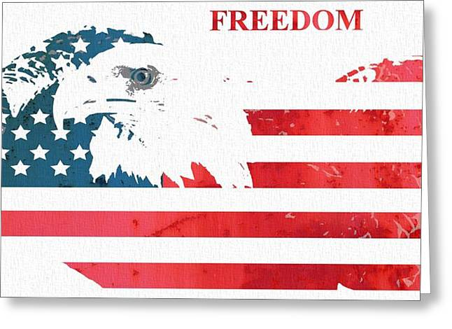 Declaration Of Independence Mixed Media Greeting Cards - Freedom Greeting Card by Dan Sproul
