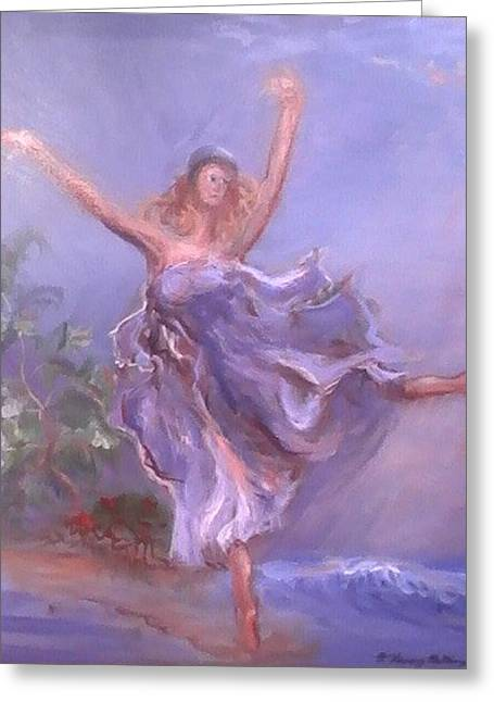 Inner Self Paintings Greeting Cards - Freedom Dance Greeting Card by Patricia Kimsey Bollinger