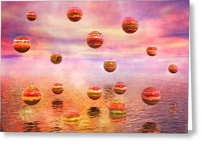 Purple Sky Greeting Cards - Freedom Greeting Card by Betsy C  Knapp