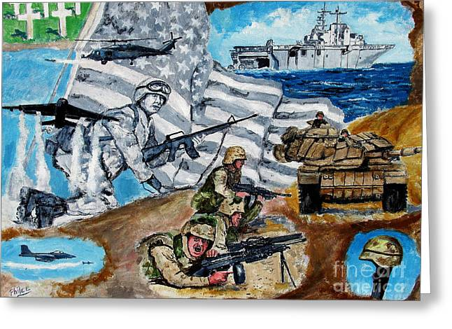 Freedom Fighters Greeting Card by Philip Lee