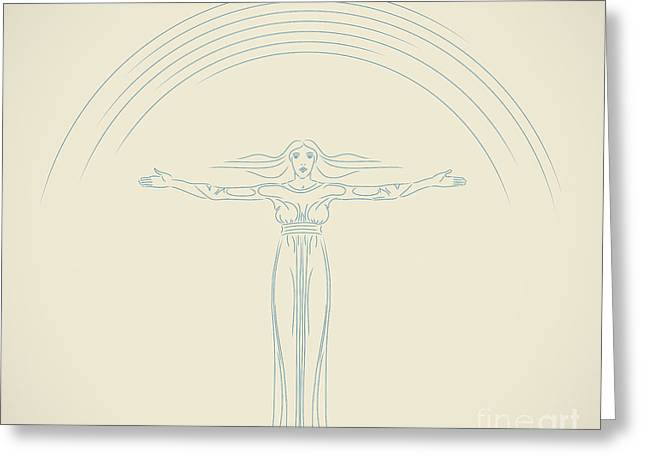 Hair Abstract Art Greeting Cards - Freedom Greeting Card by Igor Kislev