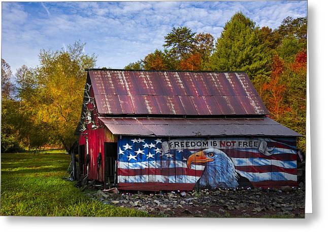 Tn Greeting Cards - Freedom is not Free Greeting Card by Debra and Dave Vanderlaan