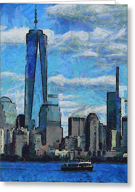 Center City Mixed Media Greeting Cards - Freedom Isnt Free Greeting Card by Dan Sproul