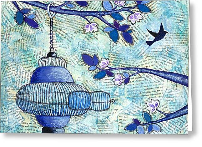 Australian Open Mixed Media Greeting Cards - Freedom Greeting Card by Lisa Frances Judd