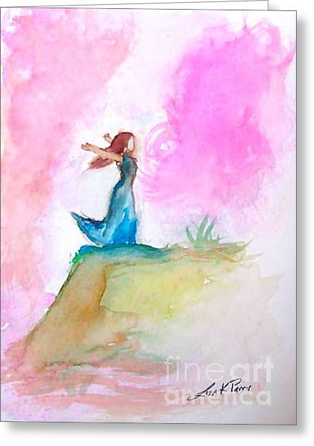 Outstretched Arm Paintings Greeting Cards - Freedom Greeting Card by Lisa Kay