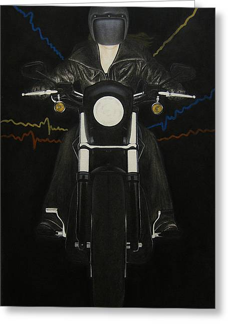 Motorcycle Pastels Greeting Cards - Freedom Greeting Card by Lynet McDonald