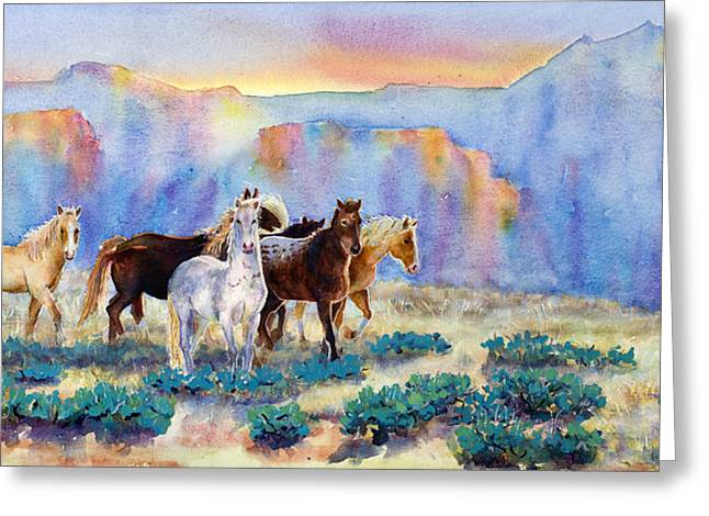Yearling Greeting Cards - Freedom Greeting Card by Mary Giacomini
