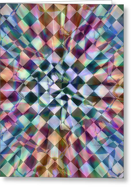 Green And Yellow Abstract Greeting Cards - Freedom Nude Woman Abstract Greeting Card by Tony Rubino