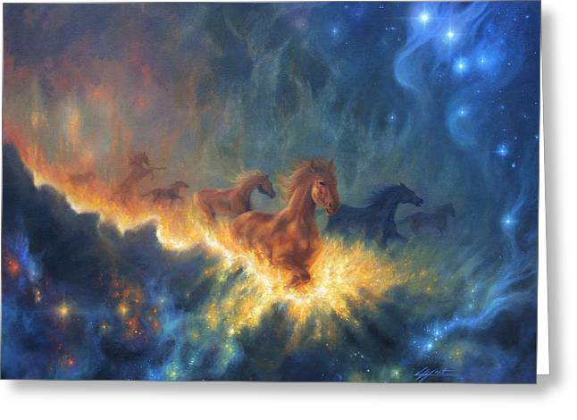 Dream Scape Greeting Cards - Freedom of Dreaming Greeting Card by Lucy West