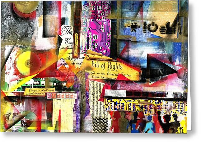 Wynton Marsalis Mixed Media Greeting Cards - Freedom of Speech 3 Greeting Card by Everett Spruill