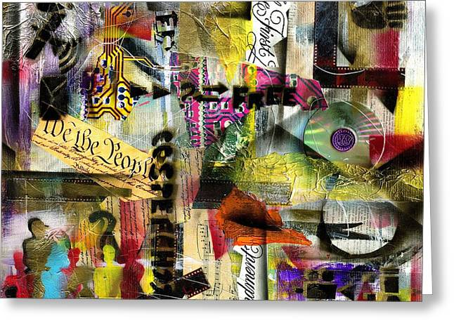 Free Speech Mixed Media Greeting Cards - Freedom of Speech 4 Greeting Card by Everett Spruill