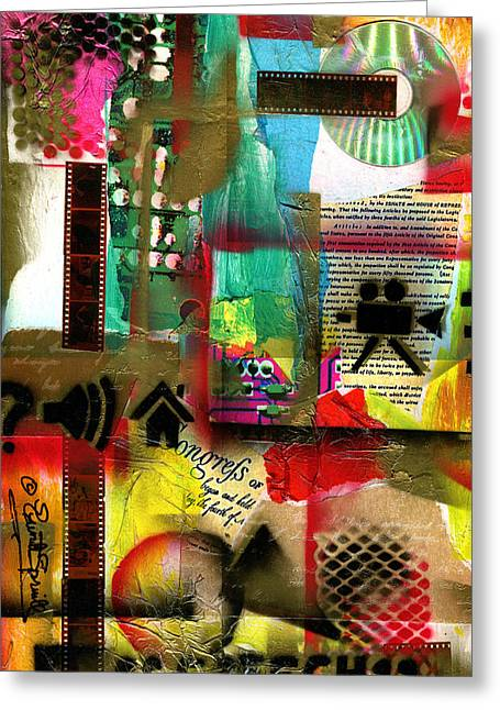 African-american Institute Greeting Cards - Freedom of Speech 8 Greeting Card by Everett Spruill