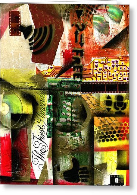 Wynton Marsalis Mixed Media Greeting Cards - Freedom of Speech 9 Greeting Card by Everett Spruill