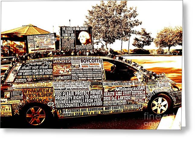 Civil Rights Greeting Cards - Freedom of Speech on Wheels Greeting Card by Desiree Paquette