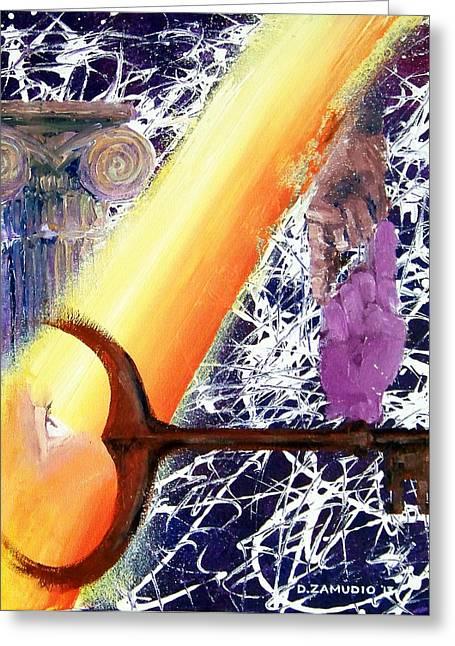 Symbol Of Wisdom Greeting Cards - Freedom of the mind Greeting Card by David Zamudio