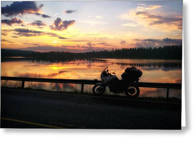 Road Travel Greeting Cards - Freedom of the Road Greeting Card by Mountain Dreams