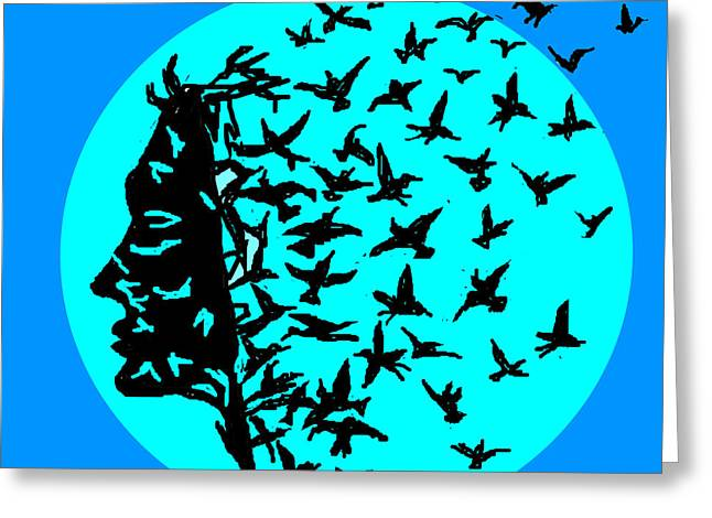Freedom Of Thought Greeting Card by Anand Swaroop Manchiraju