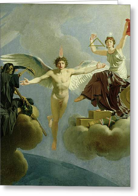 Grim Reaper Greeting Cards - Freedom Or Death, 1794-95 Oil On Canvas Greeting Card by Jean-Baptiste Regnault