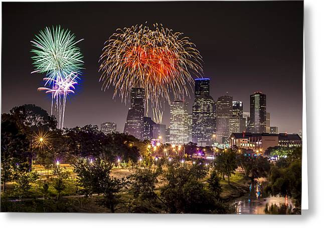 July 4th Greeting Cards - Freedom Over Texas Greeting Card by David Morefield