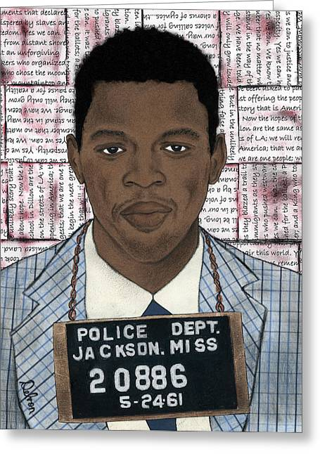Congressman Mixed Media Greeting Cards - Freedom Rider 20886 Greeting Card by Delvon