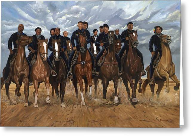 Tubman Greeting Cards - Freedom Riders Greeting Card by Kolongi Brathwaite