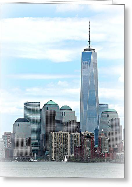 Wtc 11 Photographs Greeting Cards - Freedom Rising Greeting Card by Stephen Stookey