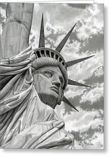 July 4th Greeting Cards - Freedom Greeting Card by Sarah Batalka