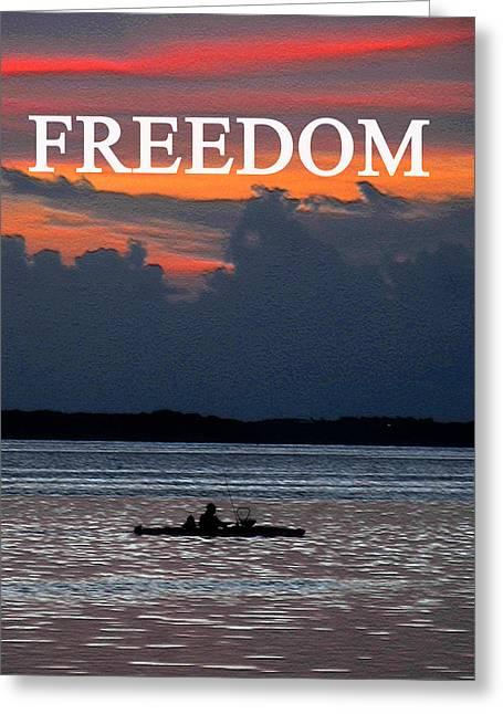 Sea Kayak Greeting Cards - Freedom sea kayaking Greeting Card by David Lee Thompson