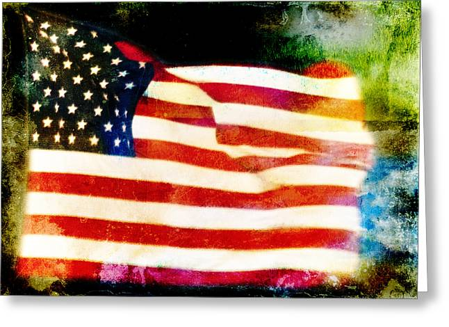 Freedom Greeting Card by Steven  Michael