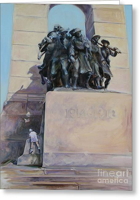 Monument To The Unknown Soldier Greeting Cards - National War Memorial Ottawa Freedom The 24th Greeting Card by Christine Montague