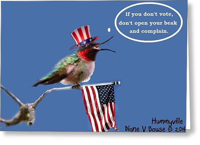 Freedom To Choose Greeting Card by Diane V Bouse