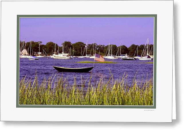 Ocean Scenes Greeting Cards - Freedom Bristol Harbor RI Greeting Card by Tom Prendergast