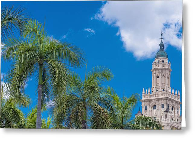 University Of Miami Greeting Cards - Freedom Tower at Miami Dade College Greeting Card by Andre Babiak