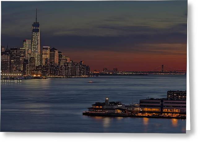 N.y. Greeting Cards - Freedom Tower Sunset Greeting Card by Susan Candelario