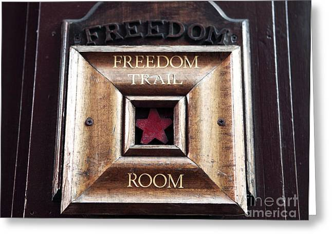 Americana Pictures Greeting Cards - Freedom Trail Room Greeting Card by John Rizzuto