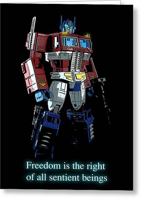 Freedom Greeting Card by Xaviercal