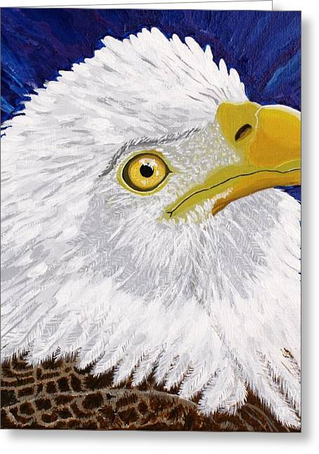 4th July Paintings Greeting Cards - Freedoms Hope Greeting Card by Vicki Maheu