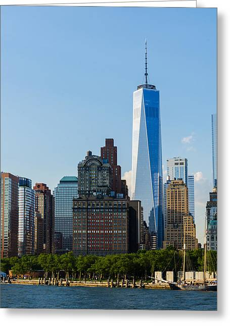 Old And New Photographs Greeting Cards - Freedon Tower 2 Greeting Card by Frank Mari