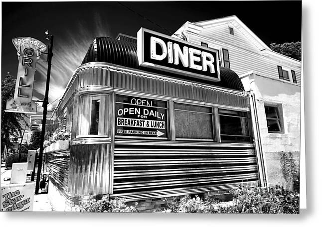 Old School Galleries Greeting Cards - Freehold Diner Greeting Card by John Rizzuto