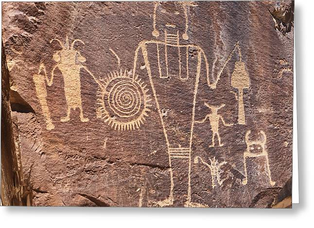 Freemont Greeting Cards - Freemont Culture Petroglyphs Greeting Card by Melany Sarafis