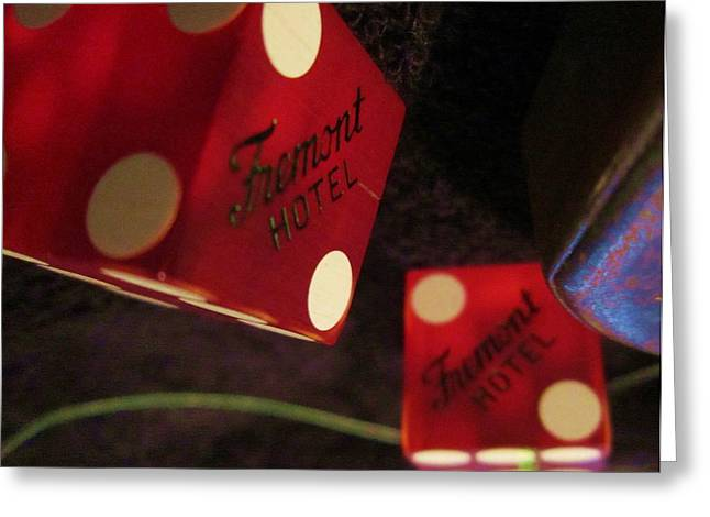 High Stakes Greeting Cards - Freemont Dice Greeting Card by Dan Twyman