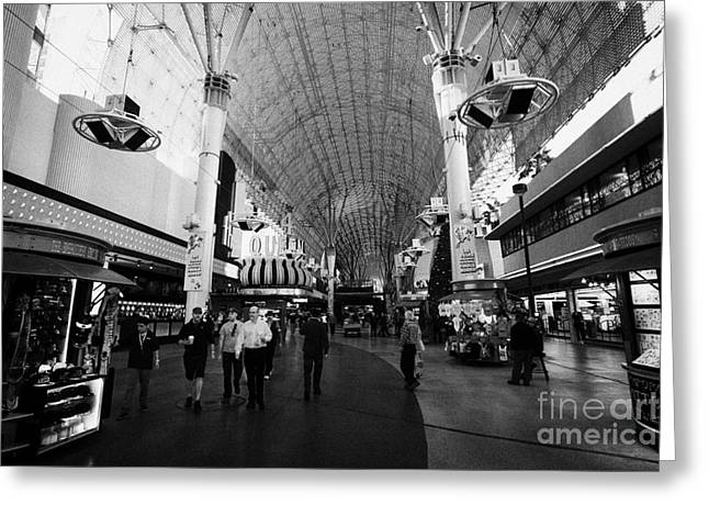 freemont street experience downtown Las Vegas Nevada USA Greeting Card by Joe Fox